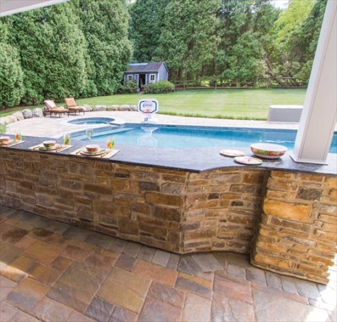 Beautiful Breakfast Bar Pool Patio