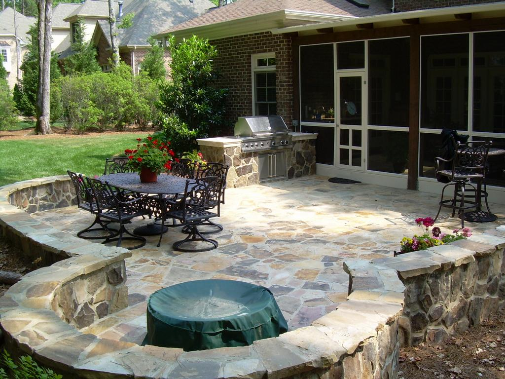 Crescent dc stone patios design construction for Garden patio design ideas