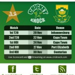 Pakistan Tour of South Africa Fixtures 2013