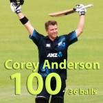 Corey Anderson Fastest ODI Century Video