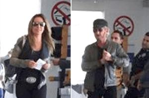 Sean Penn & Kate del Castillo arriveren op vliegveld © El Universal