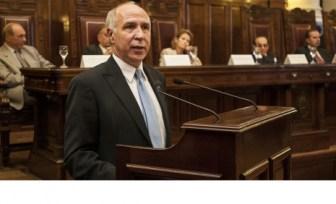 Lorenzetti encabeza la audiencia acompañado por todos los jueces.