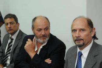 Zalloechevarría, Araujo y De la Torre durante el juicio oral.