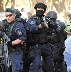 La represión se prolongó durante varias horas.