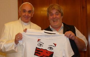 El Papa Francisco y Gustavo Vera.