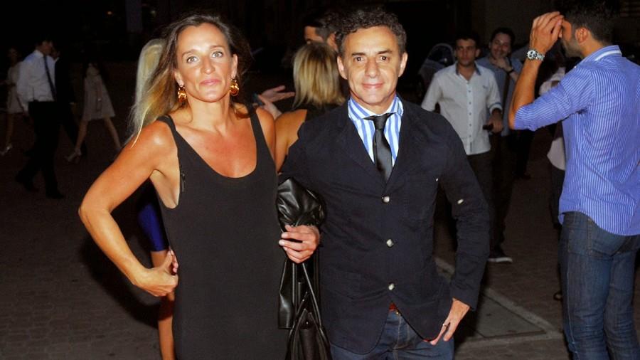Majul y su esposa, ex empleada de Michetti.