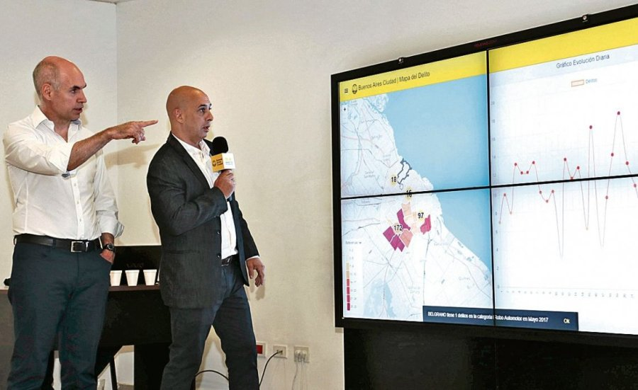 Rodríguez Larreta y Ocampo en la presentación.