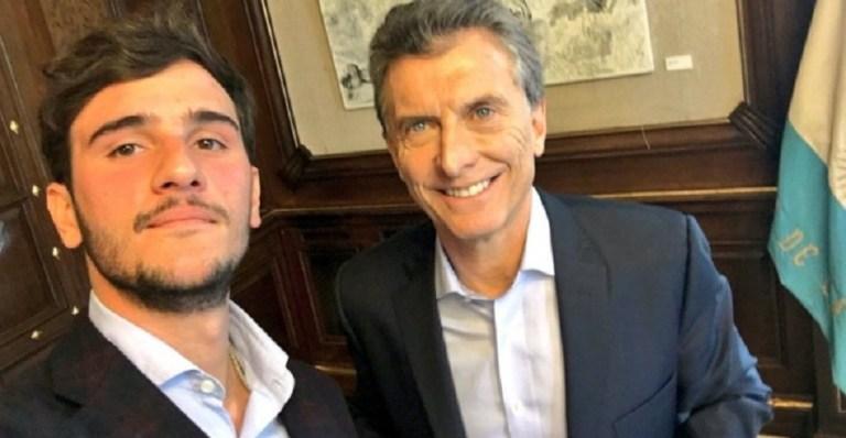 Robledo con el presidente Macri.