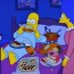 homer getting caught eating in bed simpsons thesimpsonsfox life favoritehellip