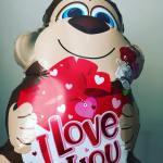awe love monkey ballon happy valentinesday