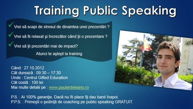 Training Public Speaking - Paul Ardeleanu