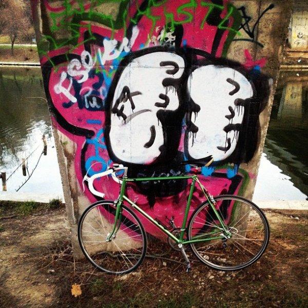 bicicleta lui Cristian Florea - parcul tineretului
