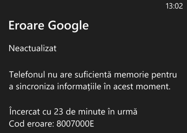 eroare mail windows phone 8