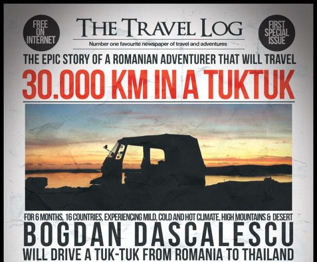 romanul care merge pana in thailanda cu un tuk tuk