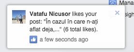 numar total de like-uri notificari