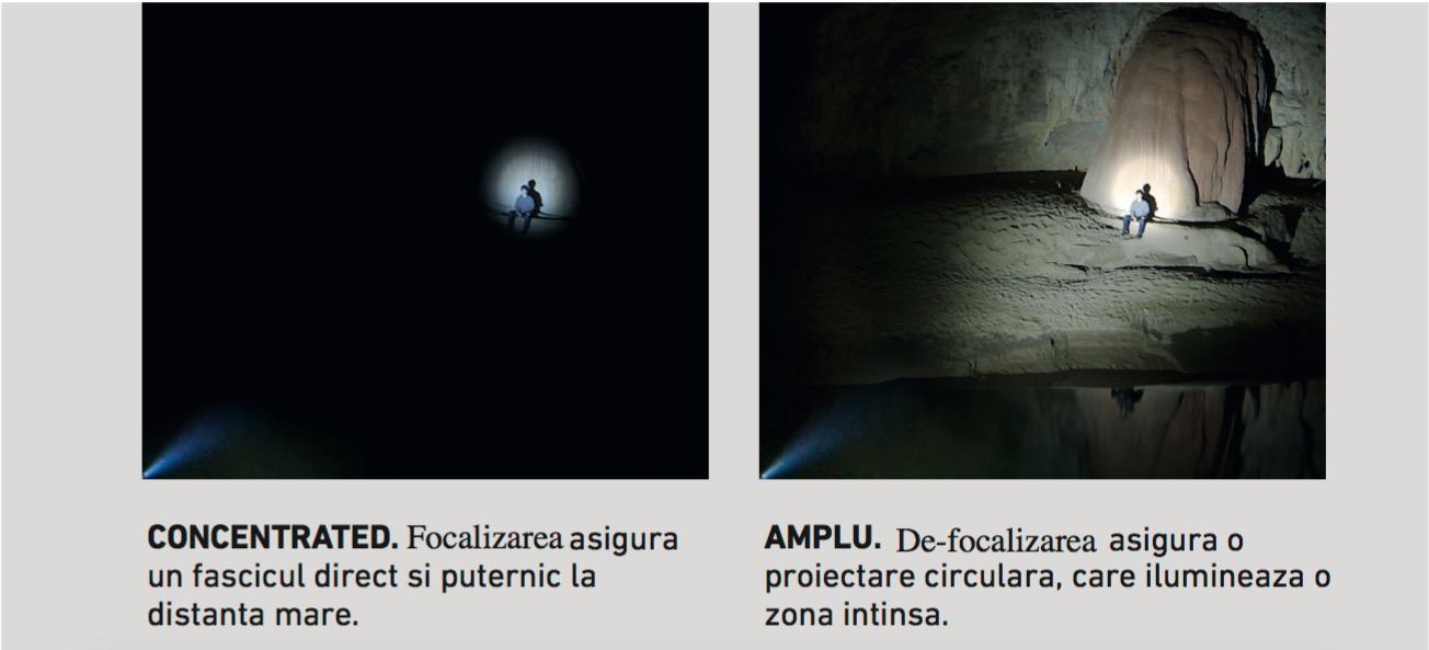focalizare ledlenser - luminile Ledlenser pentru bicicliști