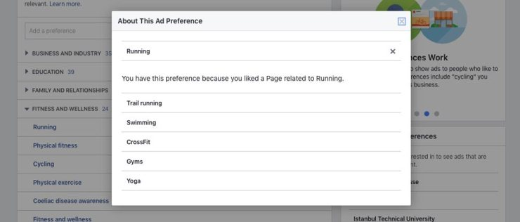 criterii reclame facebook