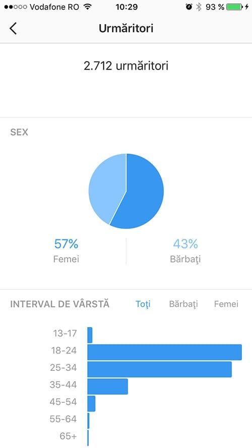 statistici instagram - profil business 3