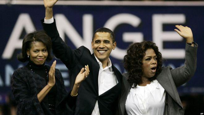 Oprah Winfrey apoya a Obama