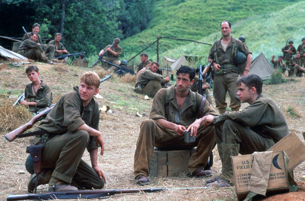 "a review of terrence malicks film the thin red line Malick has not made a feature in 20 years, and so when his metaphysical anti-war film, ""the thin red line,"" was released, in 1998, there was much reason to."