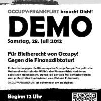 Occupy Frankfurt Demo Flyer