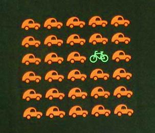 autos vs. bike
