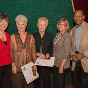 Jolene and JoAnne (center & center-left) National Presidential Volunteer Award Reciepients.