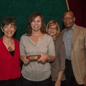 Trisha Ladd (center-left) Crittenton Volunteer Award Reciepient.