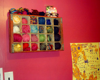 yarn storage at craftser, nifty yarn storage idea