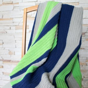 Simple Boy Stripes Afghan