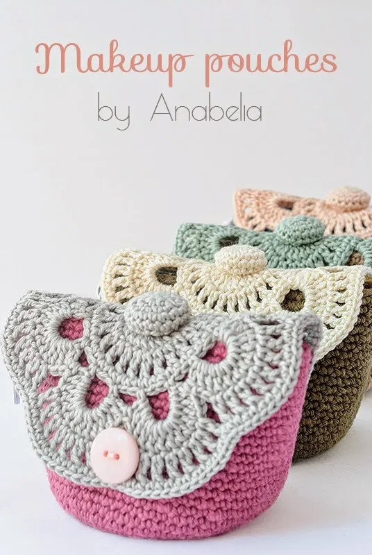 Free Crochet Patterns For Makeup Bags : Free Pattern ? Lace Makeup Pouch ? Crochet