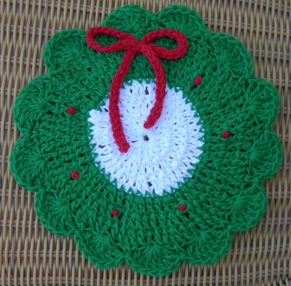 Free Knitting Patterns Christmas Dishcloth : Christmas Dishcloth Pattern   Crochet