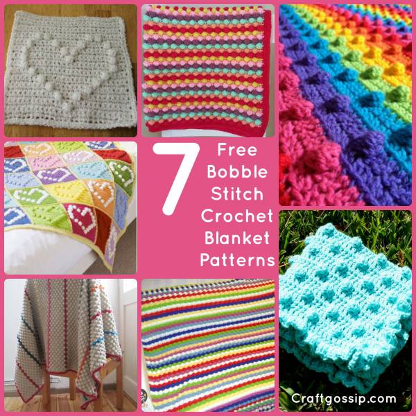 bobble-stitch-crochet-patterns-free-blanket-afghan-baby-simple