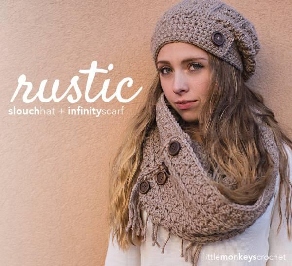 Free Crochet Pattern Scarf Hat : Free Rustic Scarf Pattern ? Crochet