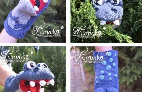 Free Pattern – Dinosaur Hand Puppet