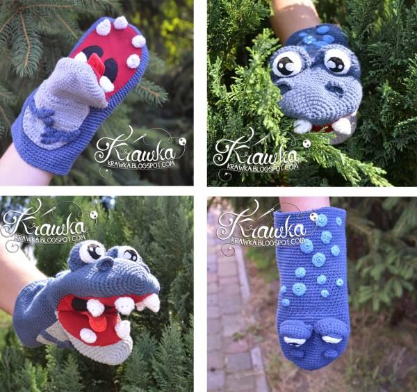 Dinosaur Gloves Knitting Pattern : Free Pattern   Dinosaur Hand Puppet   Crochet