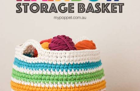 Crochet T-shirt Yarn Rope Basket