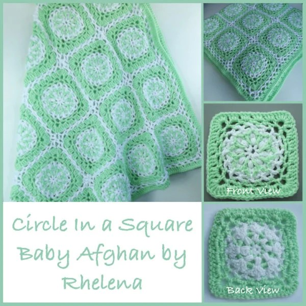 Crochet Patterns Afghan Squares : Circle In a Square Baby Afghan ~ FREE Crochet Pattern