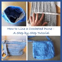 Lining a Crochet Purse