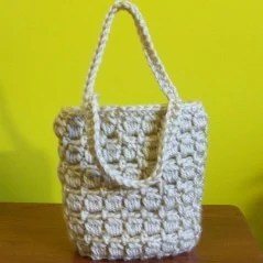 Free Crochet Pattern For Gift Bags : Mini Gift Bag ~ FREE Crochet Pattern