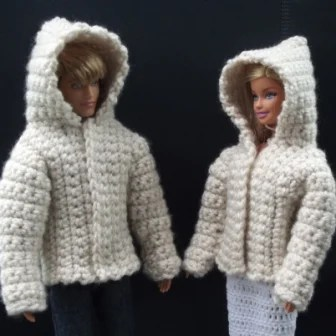 Crochet Pattern Mickey Mouse Doll : Hooded Jacket for 11.5
