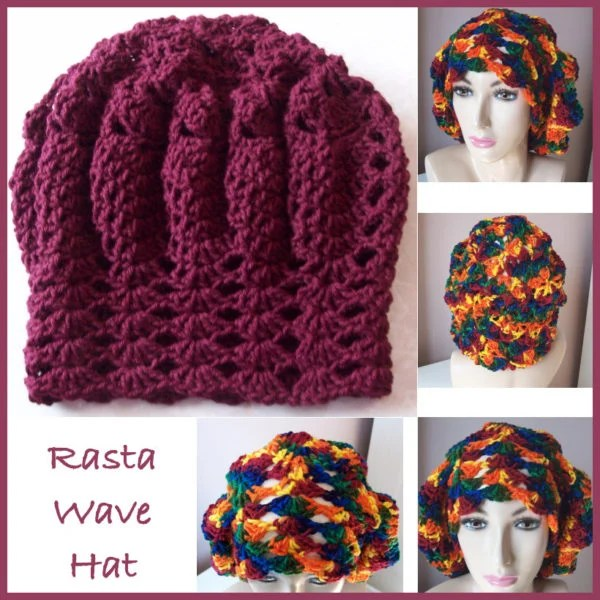 Rasta Wave Hat ~ FREE Crochet Pattern