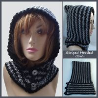 Striped Hooded Cowl