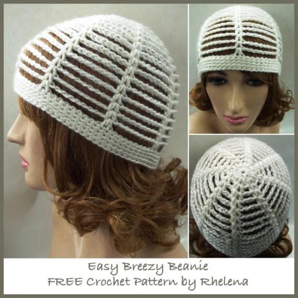 Easy Breezy Beanie ~ FREE Crochet Pattern