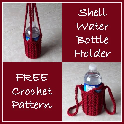 Free Crochet Pattern Water Bottle Holder : Shell Water Bottle Holder ~ FREE Crochet Pattern