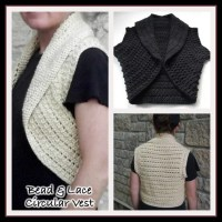 Bead & Lace Circular Vest