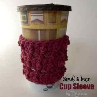 Bead and Lace Cup Sleeve ~ FREE Crochet Pattern