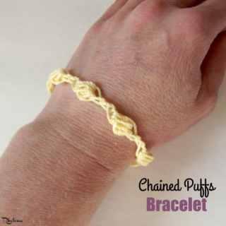 Chained Puffs Bracelet ~ FREE Crochet Pattern