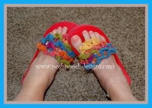 Crocodile Stitch FLip Flop Toppers ~ Sara Sach - Posh Pooch Designs
