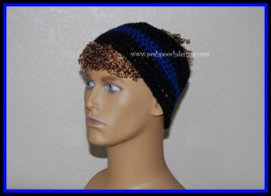 Blue Line Police Headband ~ Sara Sach - Posh Pooch Designs